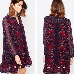Maison Scotch Wanderlust Tunic Print Dress XS